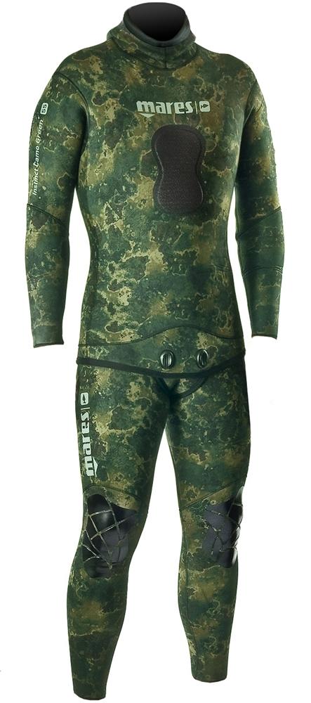 Mares Pure Instinct 3.5mm Green Camo Men s 2 Piece Wetsuit Combo ... 605c492c6