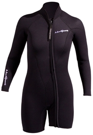 3mm Women's NeoSport Long Sleeve Front Zip Jacket / Springsuit - Combo Top